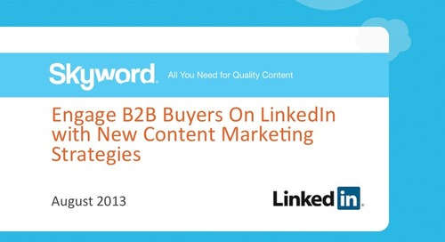 Engage B2B Buyers On LinkedIn