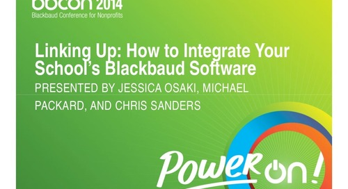 Linking Up: How to Integrate You School's Blackbaud Software