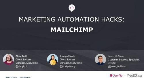 Marketing Automation Hacks 2016: MailChimp