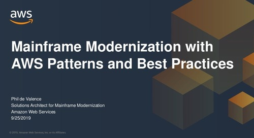 Mainframe Modernization with AWS: Patterns and Best Practices
