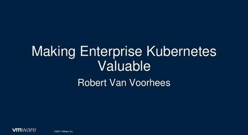 Robert Van Voorhees at VMware Tanzu Public Sector Connect 2021