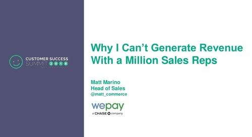 Why I Can't Generate Revenue with a Million Sales Reps