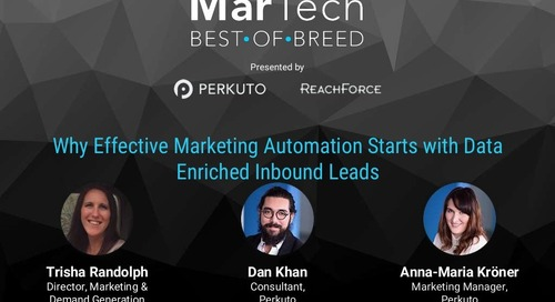 Why Effective Marketing Automation Starts with Data Enriched Inbound Leads