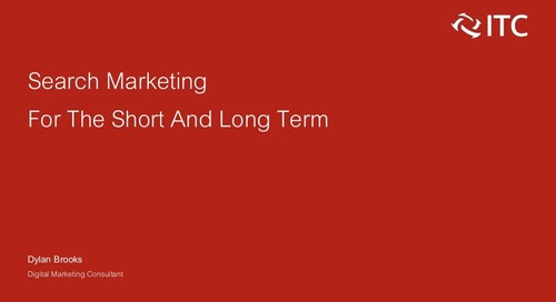 Search Marketing For The Short And Long Term