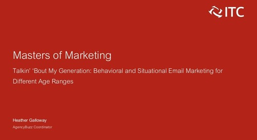 Behavioral and Situational Marketing for Different Age Ranges