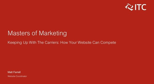 Keeping Up With the Carriers: How Your Website Can Compete