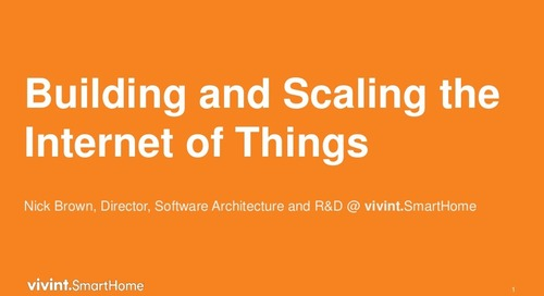 Building and Scaling the Internet of Things with MongoDB at Vivint