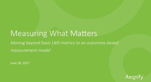 Webinar Slides: Measuring What Matters