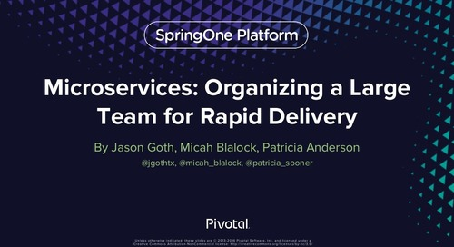 Microservices: Organizing Large Teams for Rapid Delivery