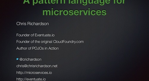 A pattern language for microservices