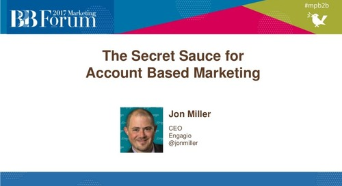 Secret Sauce for Account Based Marketing (ABM)