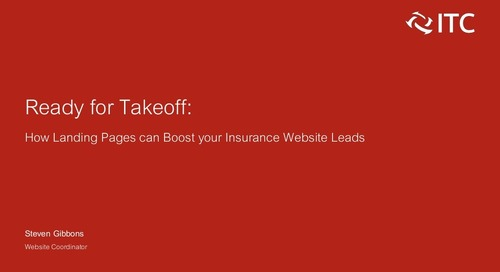 Ready for Takeoff: How Landing Pages Can Boost your Insurance Website Leads