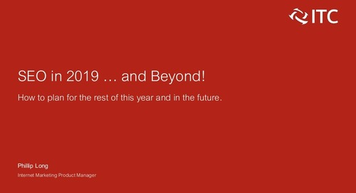 SEO in 2019...and Beyond!