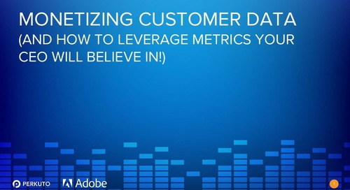 Monetizing Customer Data (And How to Leverage Metrics Your CEO Will Believe In!) - Slide Deck