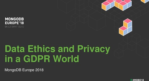 Digital Ethics and Privacy in a GDPR World