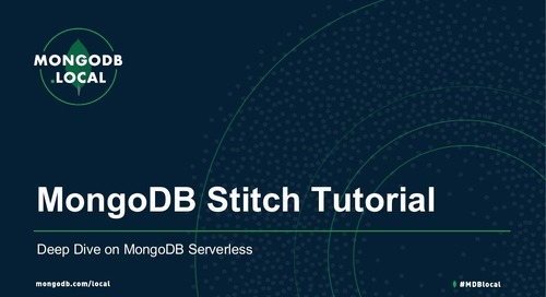 MongoDB Stitch Tutorial