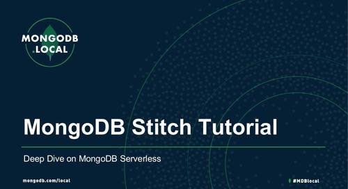 MongoDB Stitch Tutorial