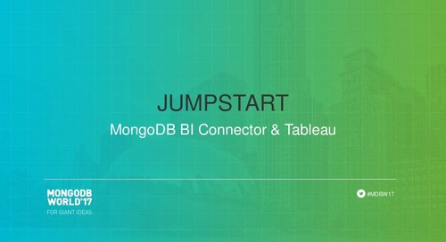 Jumpstart: MongoDB BI Connector & Tableau