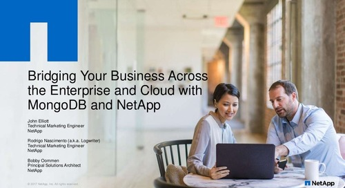 Bridging Your Business Across the Enterprise and Cloud with MongoDB and NetApp
