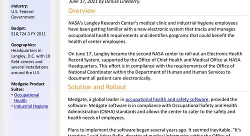 Case Study: NASA Employee Health Record System