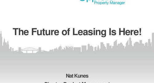 The Future Of Leasing Is Here | Webinar with Nat Kunes (Property Management Industry)
