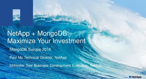 MongoDB Europe 2016 - Deploying MongoDB on NetApp storage