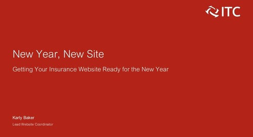 New Year, New Site: Getting Your Insurance Website Ready for 2019