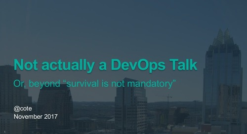 Not actually a DevOps Talk