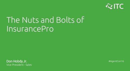 The Nuts and Bolts of InsurancePro - Don Hobdy Jr.