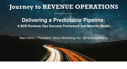 [Session] A B2B Revenue Operations Success Framework and Maturity Model