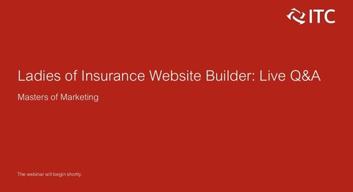 Masters of Marketing: Live Q&A With the Ladies of Insurance Website Builder