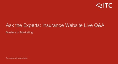Masters of Marketing: Live Insurance Website Q&A