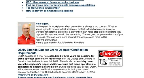 October 2014 ComplianceSigns Connection Workplace Safety Newsletter
