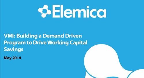 "Procurement Breakout – Omar Nadi, Elemica: ""Building a Demand Driven Program to Drive Working Capital Savings"""