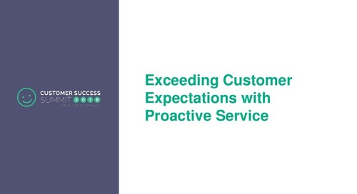 Exceeding Customer Expectations with Proactive Service