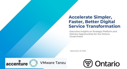 OPS Executive insights Webinar - Tanzu Slides