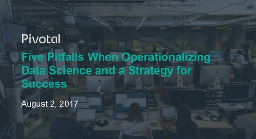 Five Pitfalls when Operationalizing Data Science and a Strategy for Success