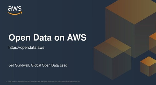 Working with Open Data on AWS