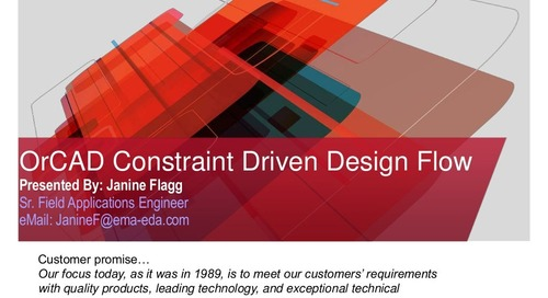 OrCAD Constraint Driven Design Flow