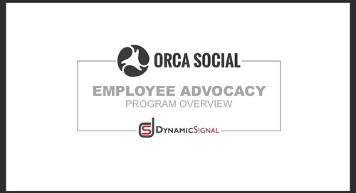 Orca Social  Employee Advocacy Overview