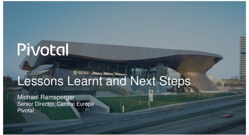 Pivotal Digital Transformation Forum: Next Steps In Your Digital Transformation