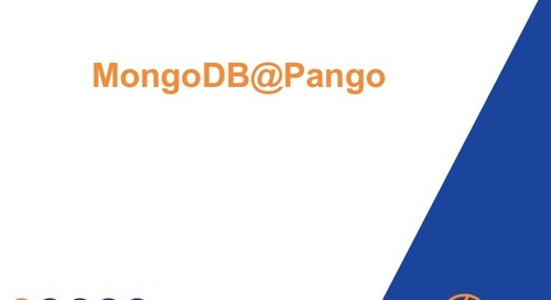 MongoDB @ Pango