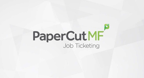 PaperCut Job Ticketing