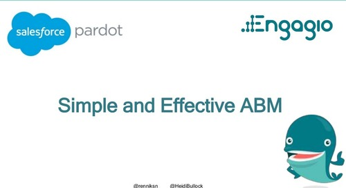 Simple and Effective ABM: Proven Strategies for Success in High Value Accounts