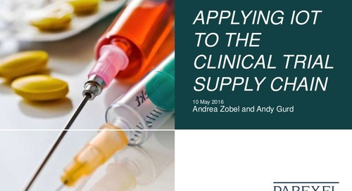 Applying the Internet of Things to the Clinical Trial Supply Chain