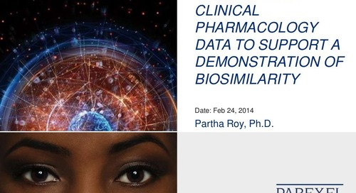 Utilization of Clinical Pharmacology Data to Support a Demonstration of Biosimilarity