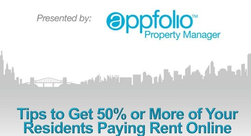Tips to Get 50% or More of Your Residents Paying Rent Online