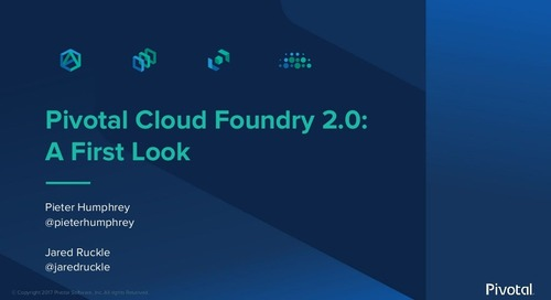 Pivotal Cloud Foundry 2.0: First Look