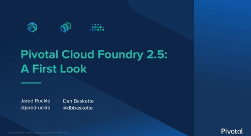 Pivotal Cloud Foundry 2.5: A First Look