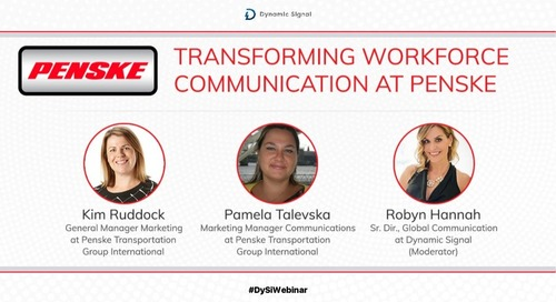 Transforming Workforce Communication at Penske